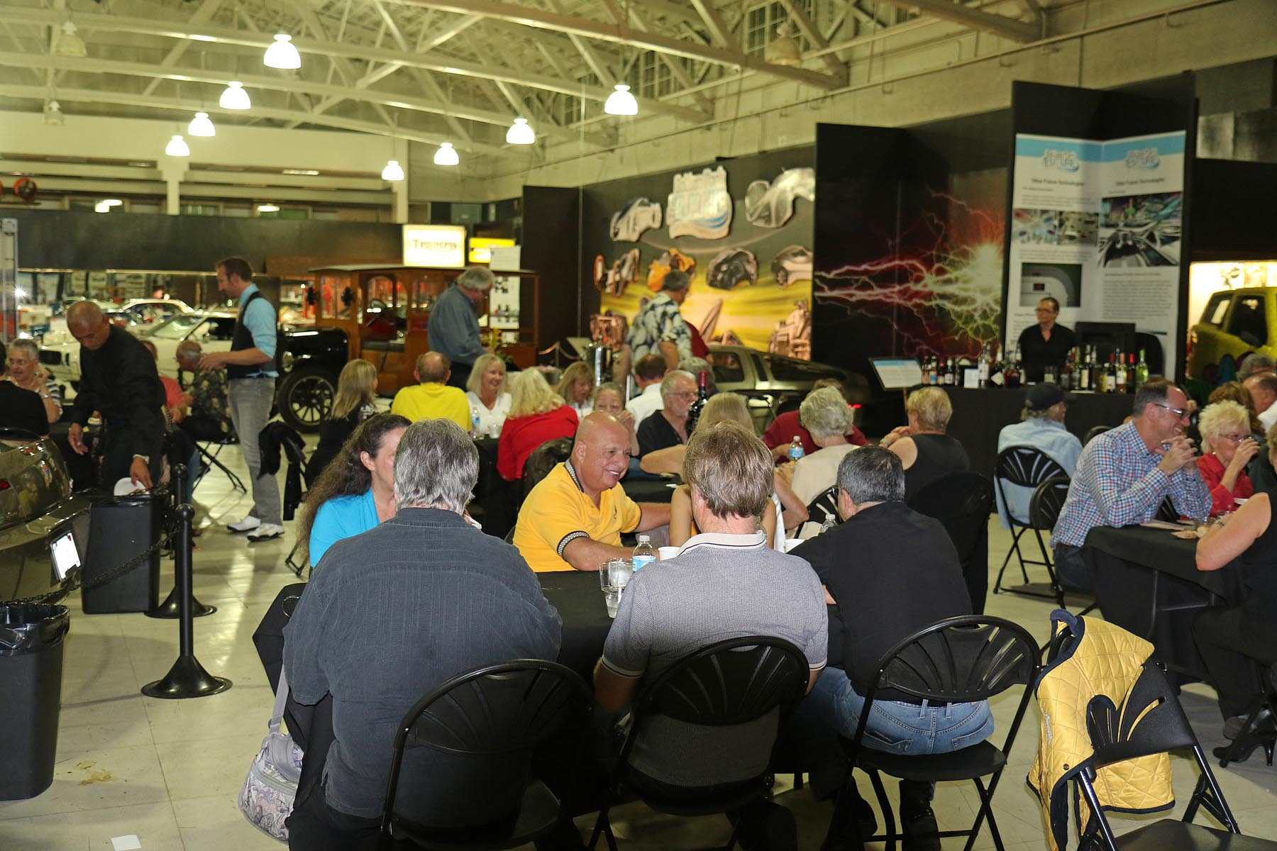 The Dinner Crowd at the Automotive Museum Friday Night