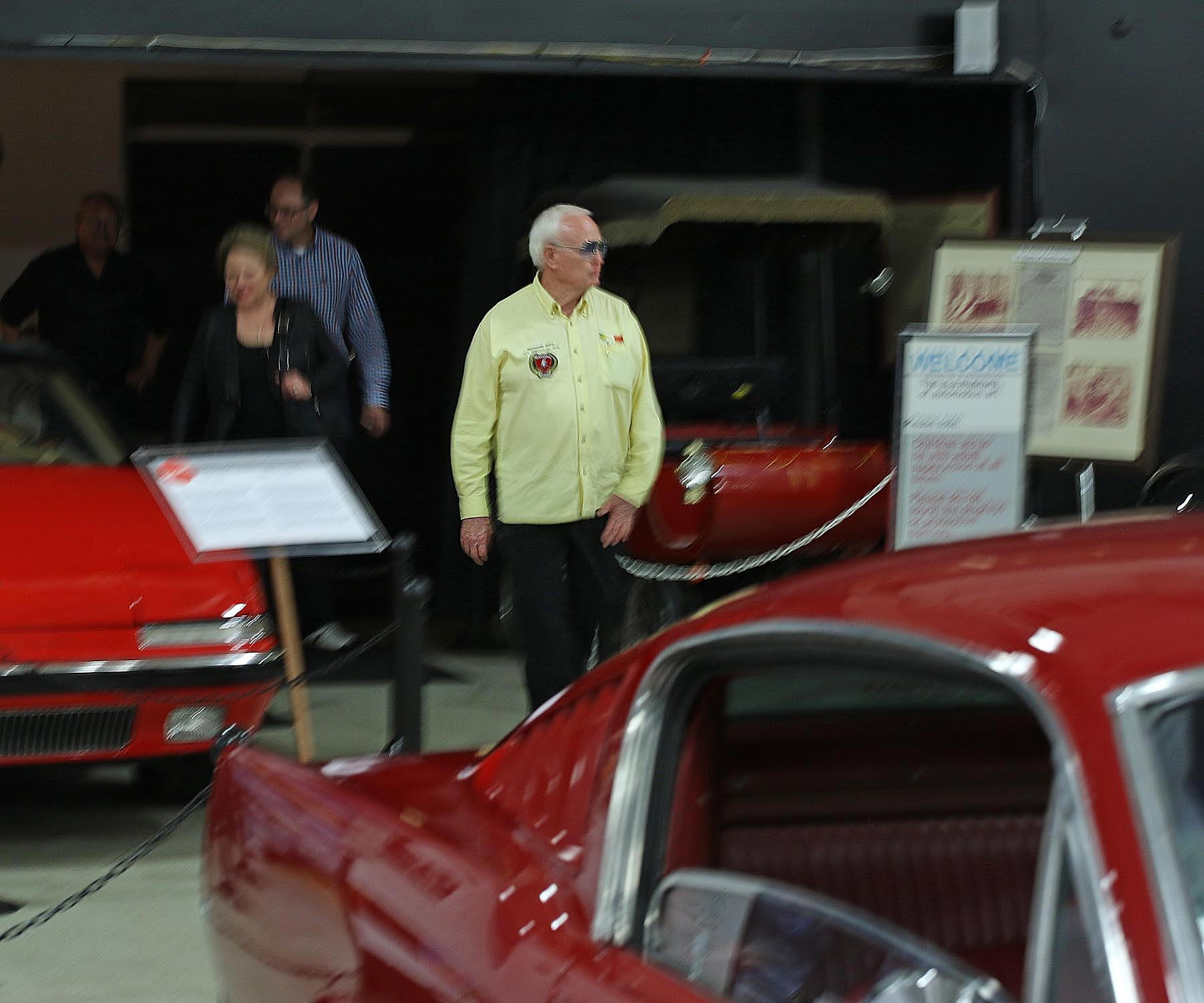 Jack Checks out the Muscle Cars in the Museum