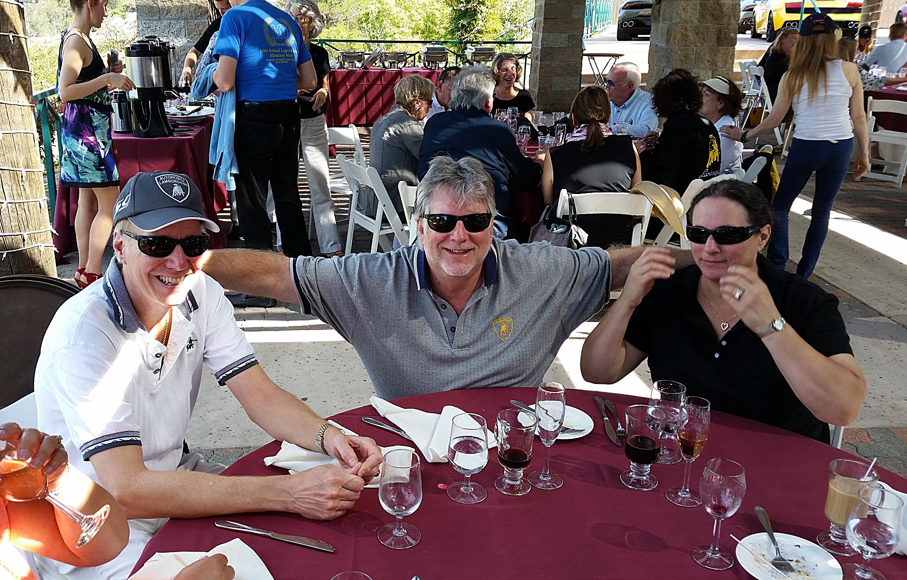 John Yardum, Ken, and Sue Blackman at the Winery