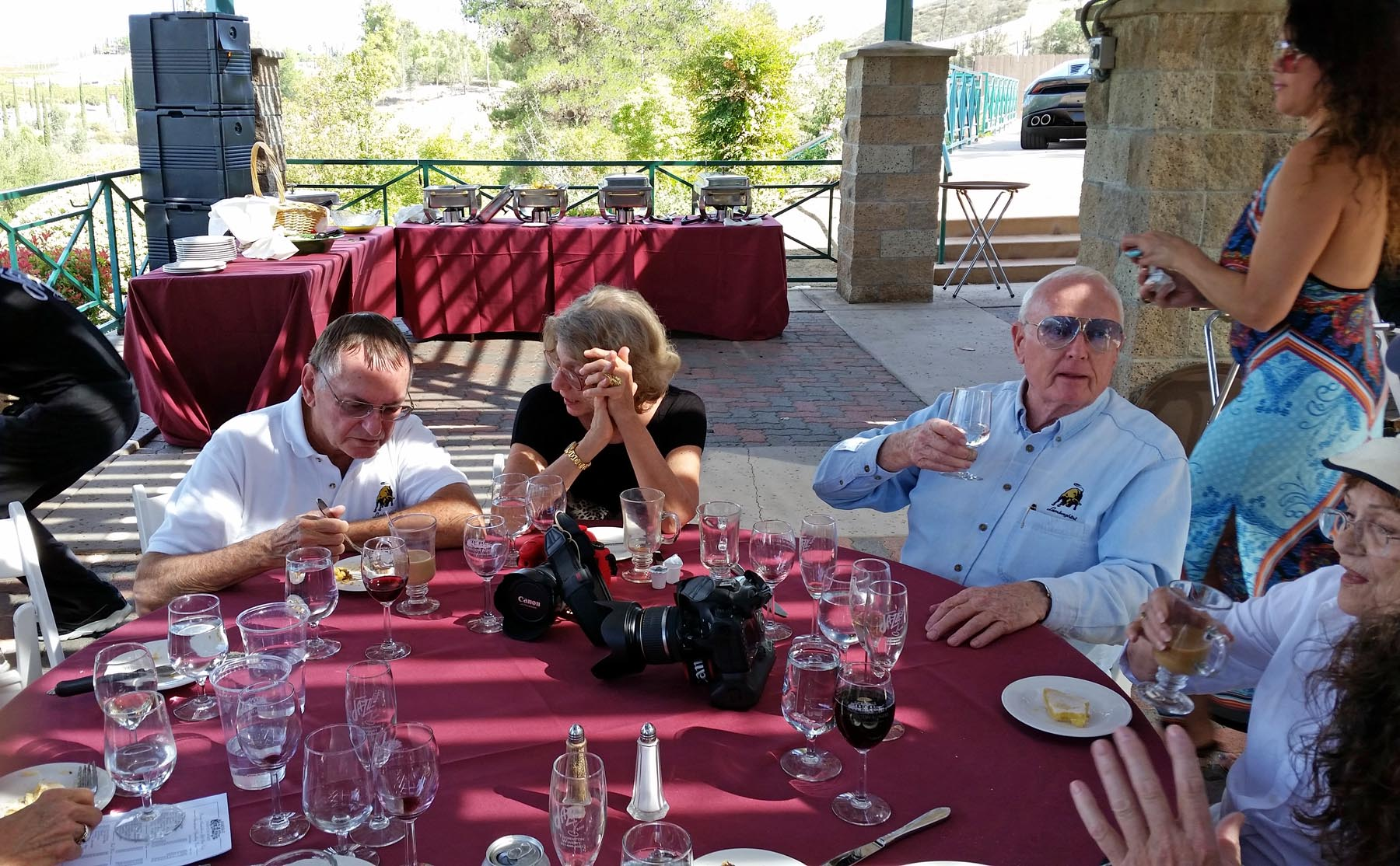 Lunch Scene at the Thornton Winery